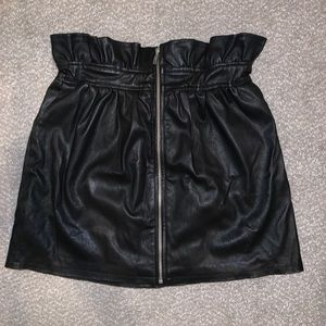 Lovers + Friends Leather Mini Skirt